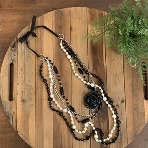 Target black and pearl necklace